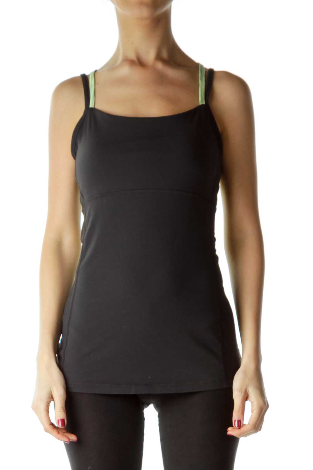 Black Green Yoga Tank