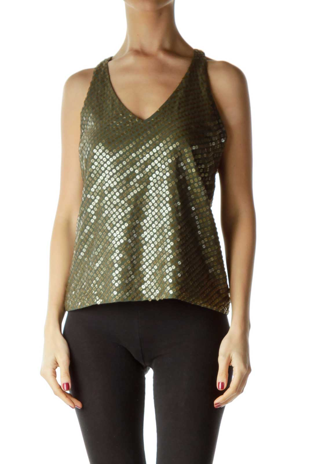 Green Gold Racerback Tank Top
