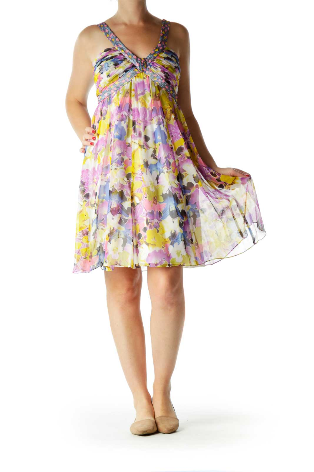 Multicolor Silk Dress