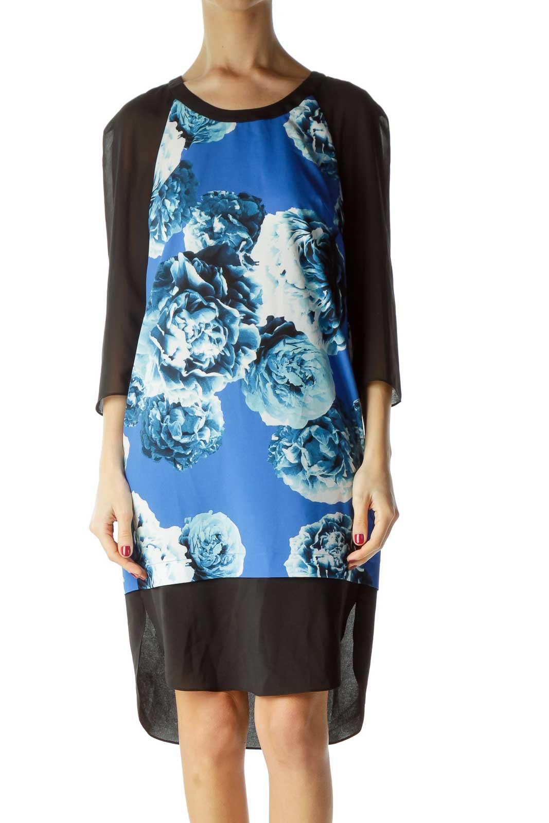 Blue Print Shift Dress
