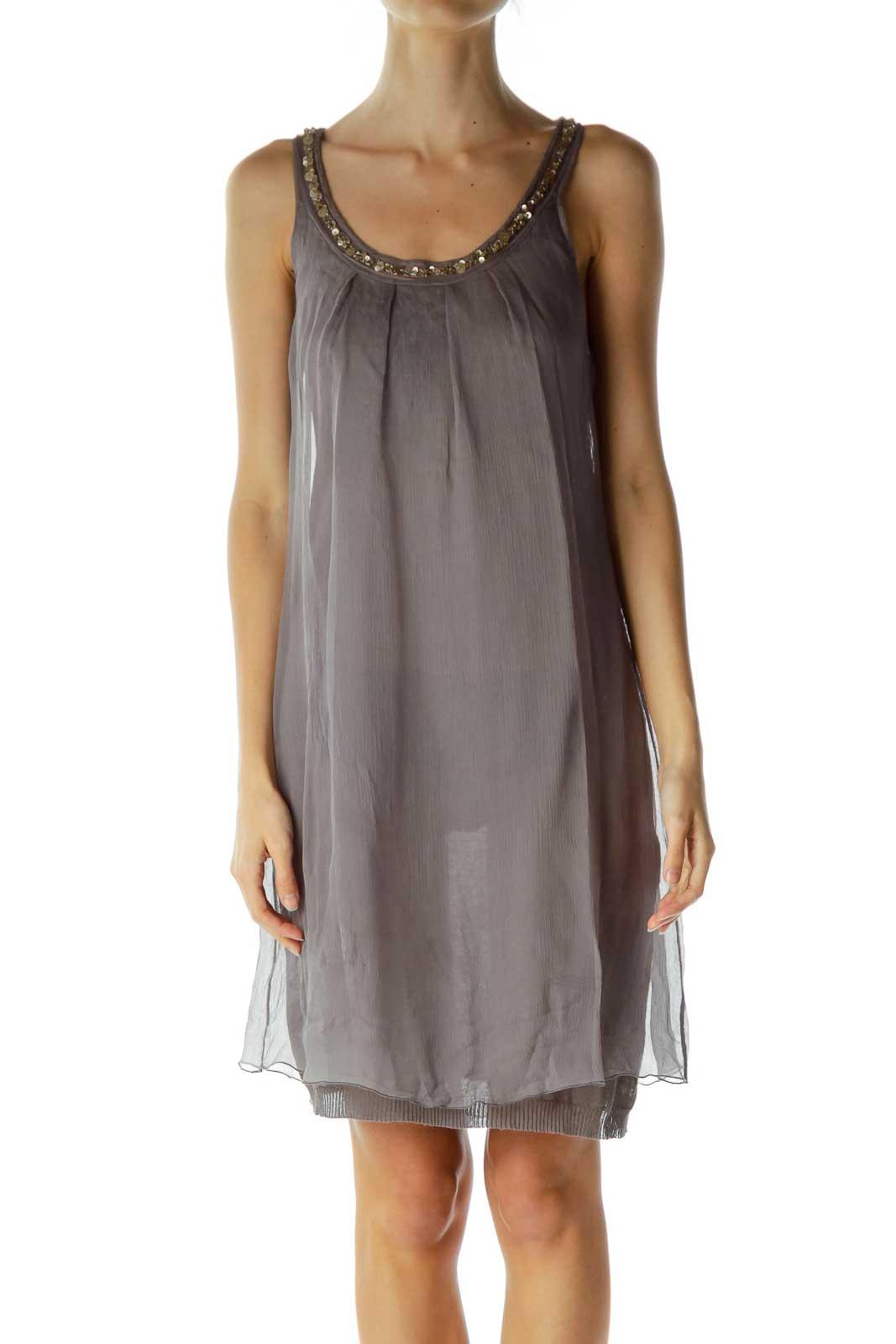 Purple Silk Tent Dress