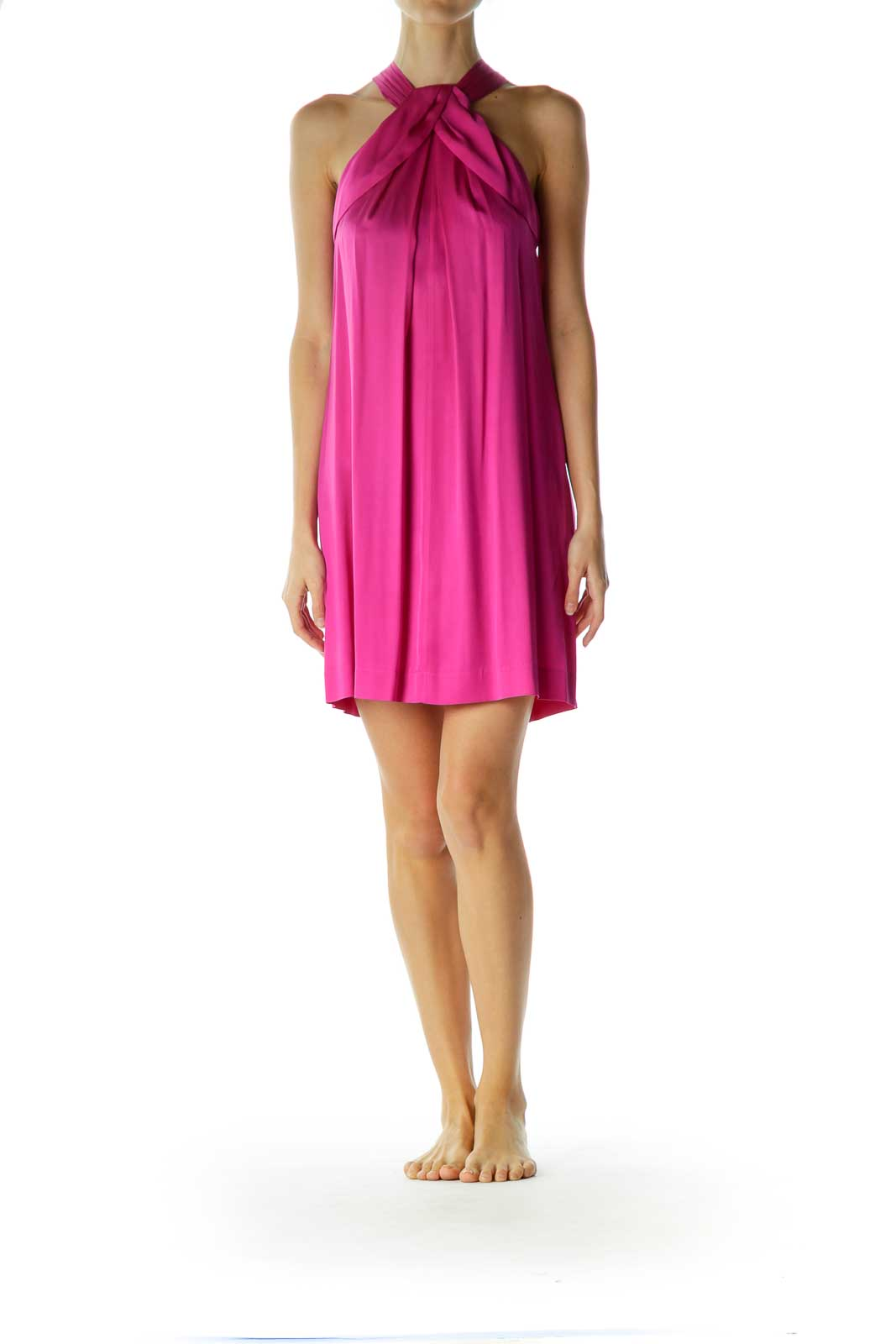 Purple Silk Cocktail Dress