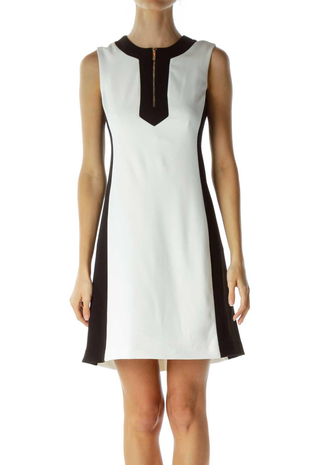 Black White Shift Dress