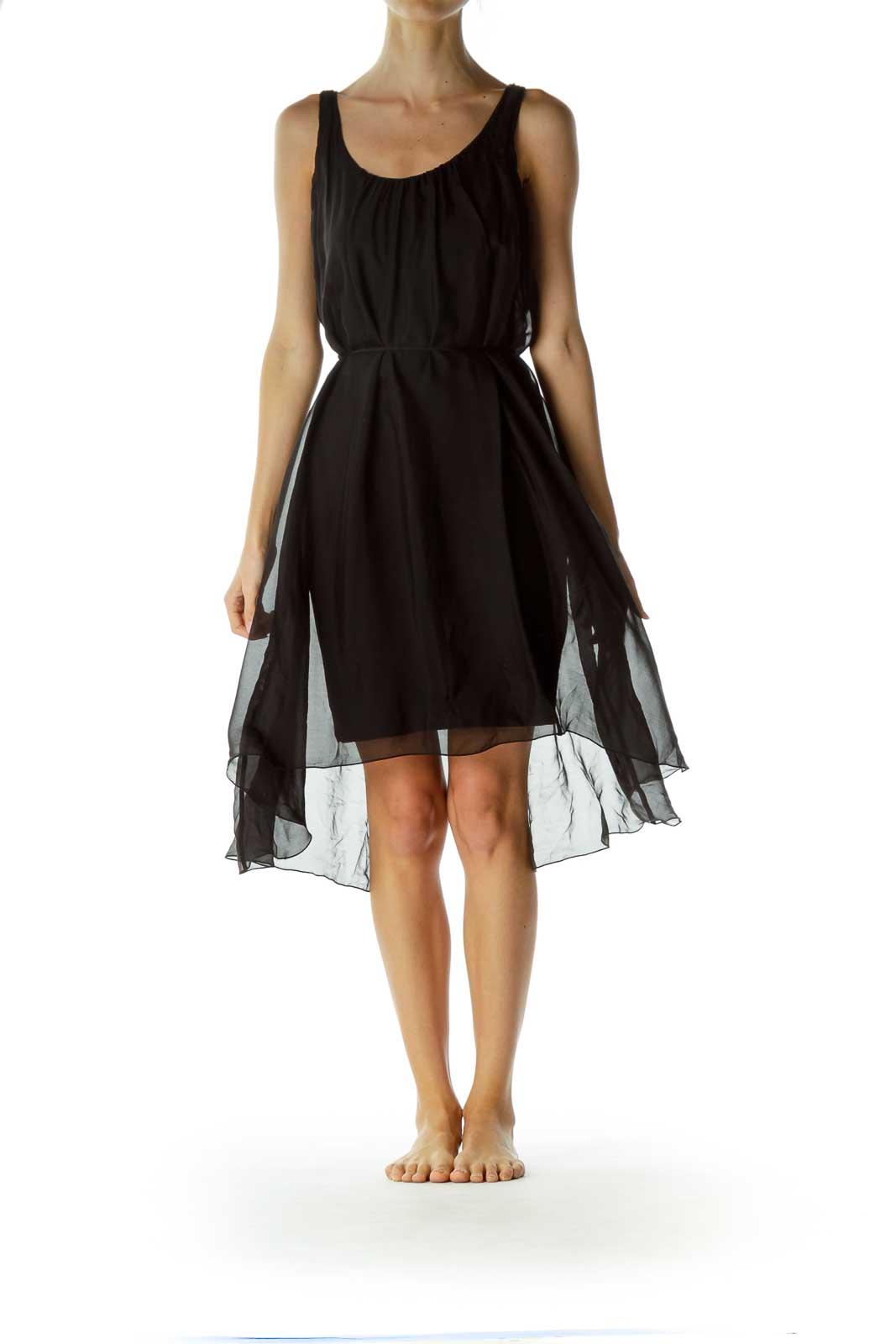 Black Silk Tent Dress