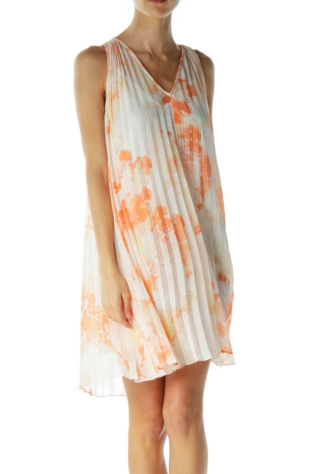 Orange Print Tent Dress