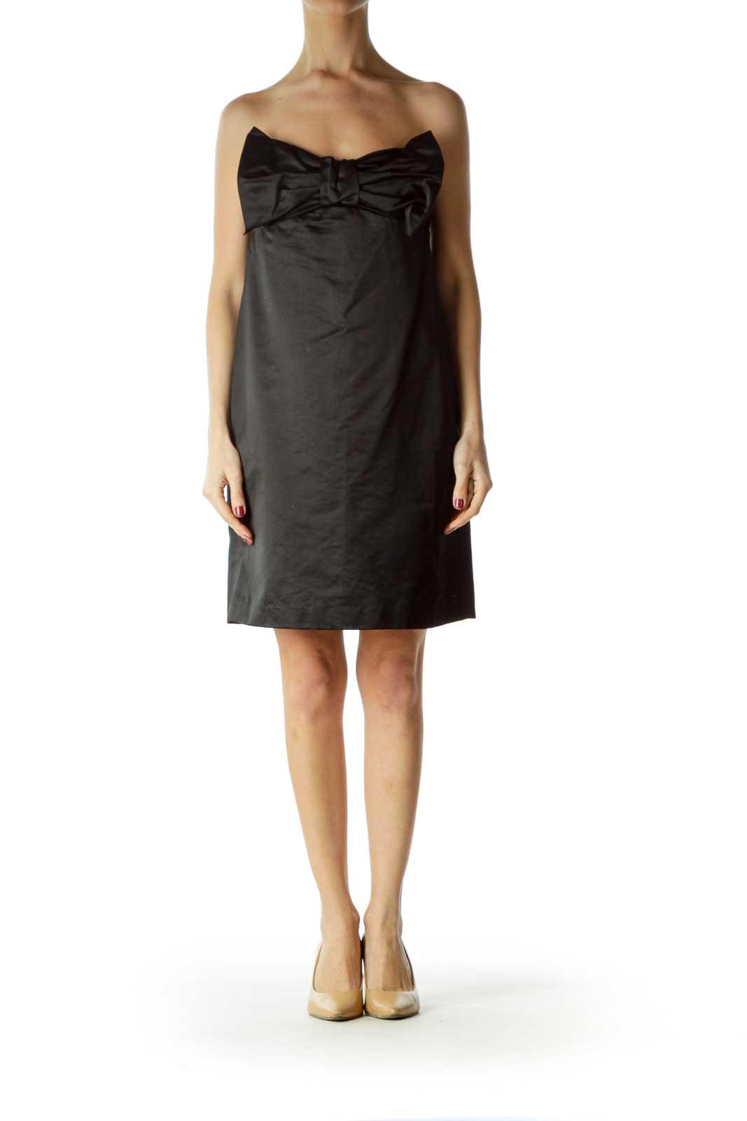 Black Bow Shiny Dress