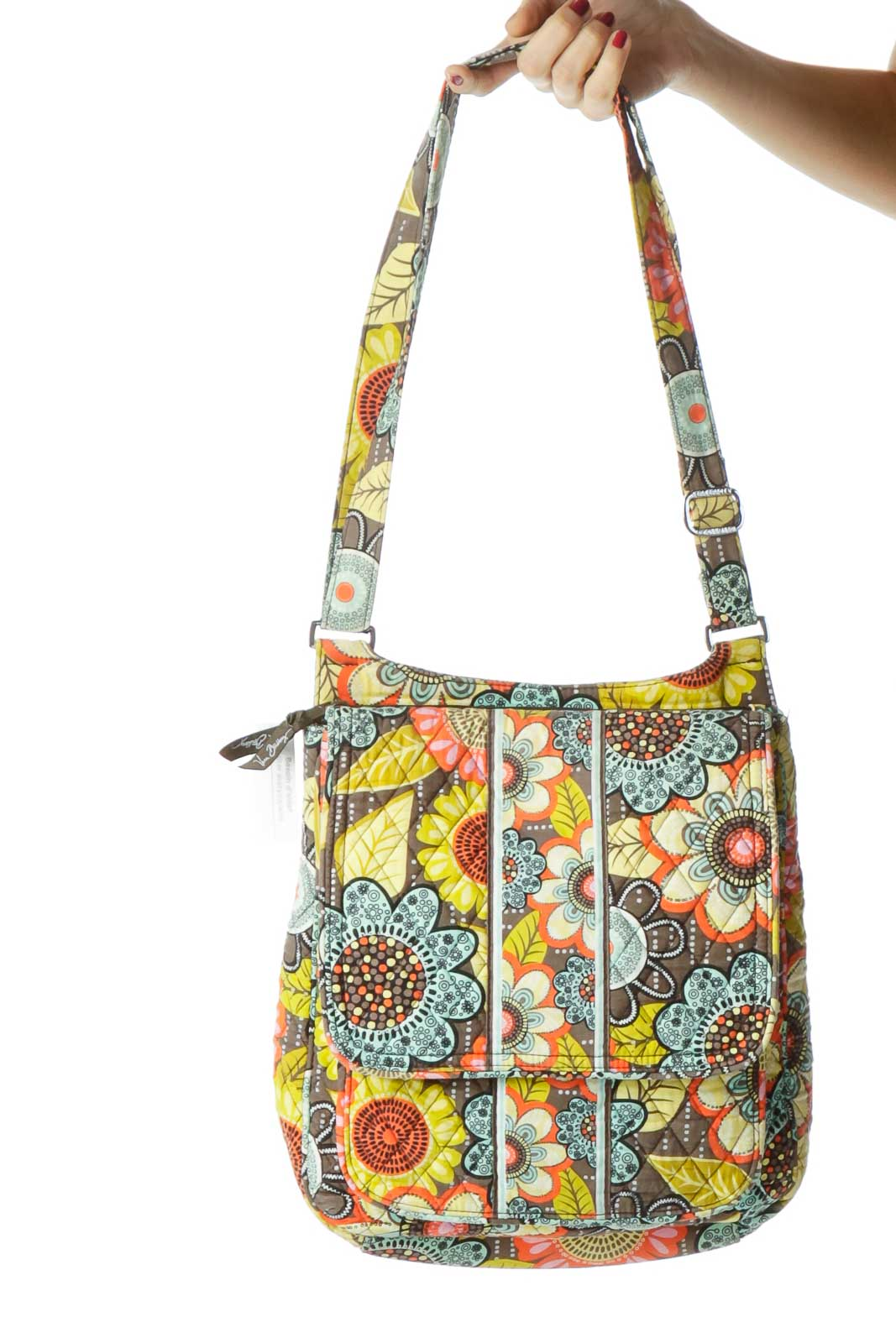 Multicolor Flower Print Crossbody Bag