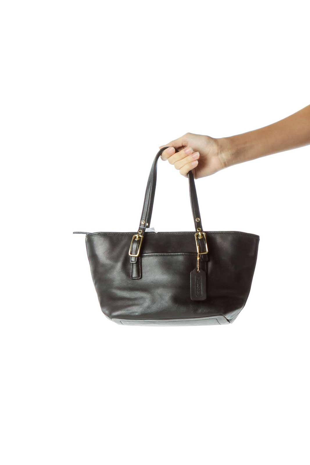 Black Mini Leather Tote