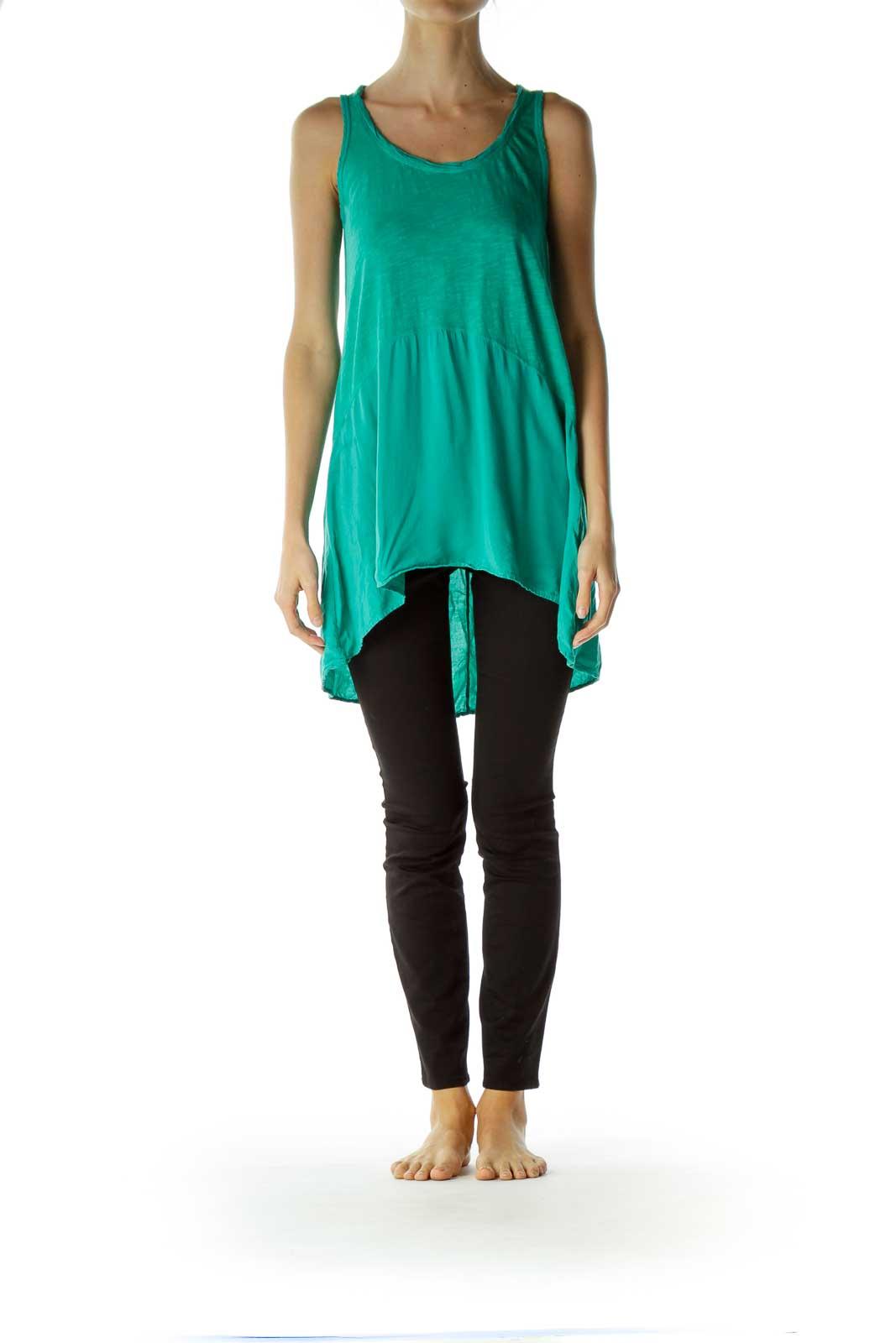 Green Sleeveless Top