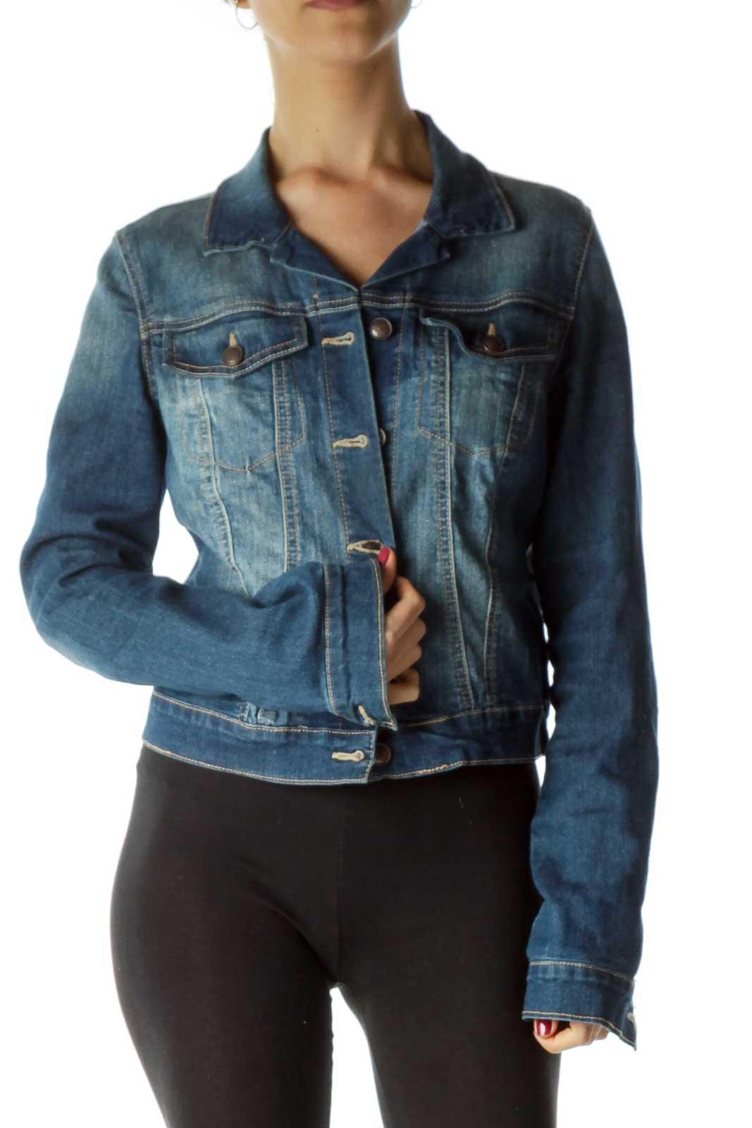Blue Dark Denim Jacket