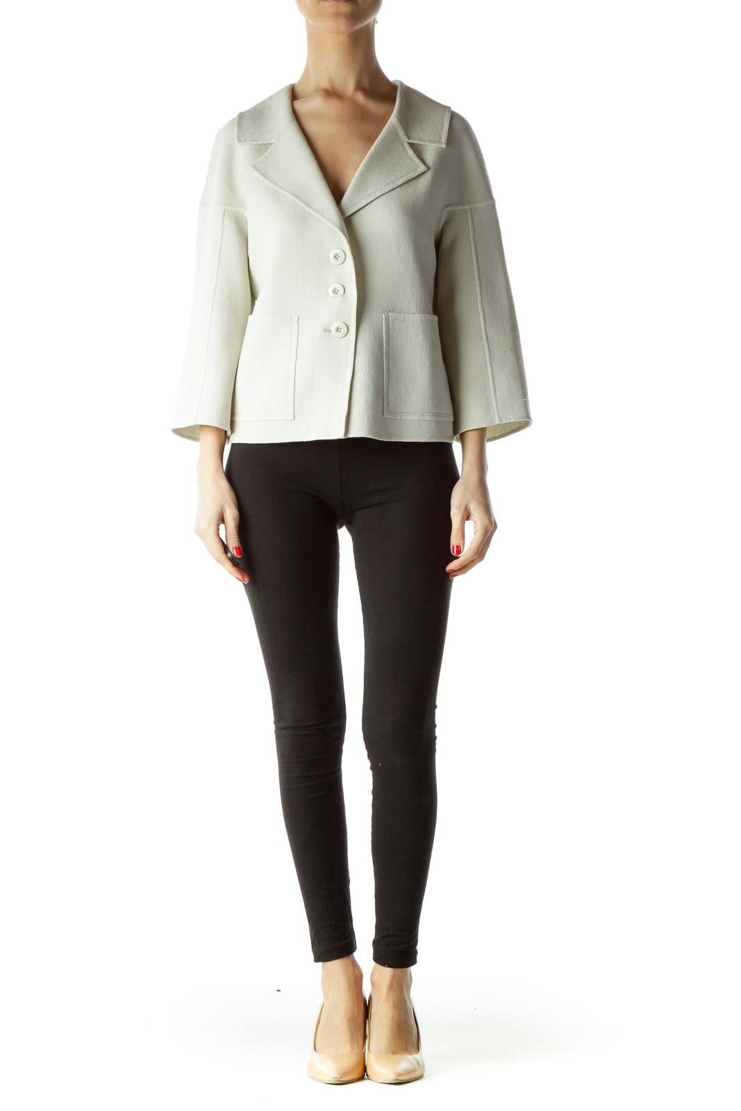 Gray 100% Wool Hand Sewn Blazer