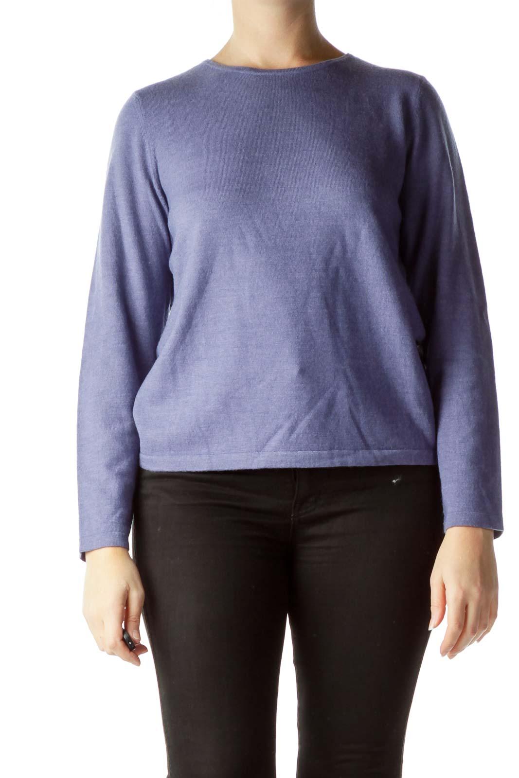 Purple 100% Pure Italian Wool Sweater
