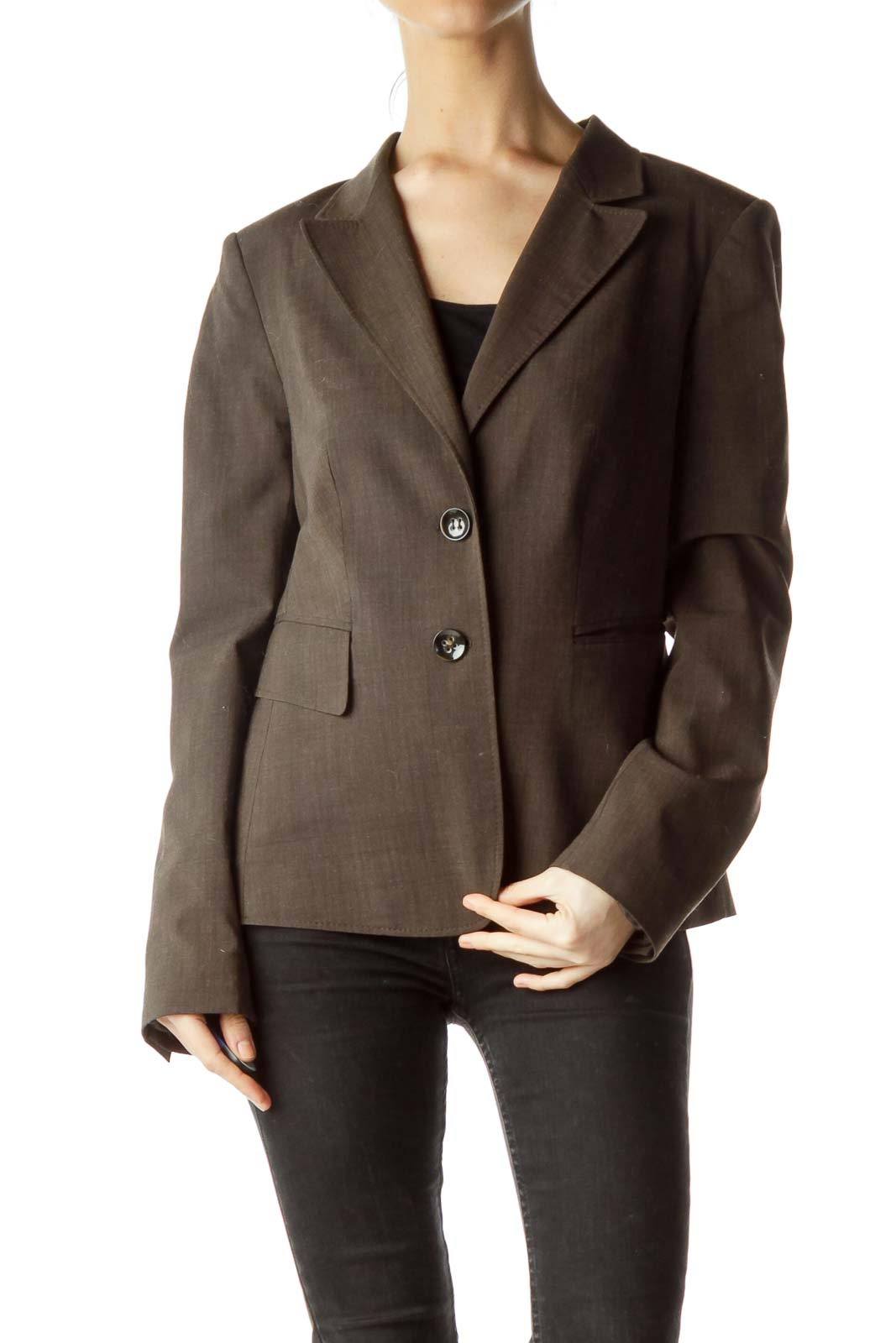 Brown Pocketed Blazer