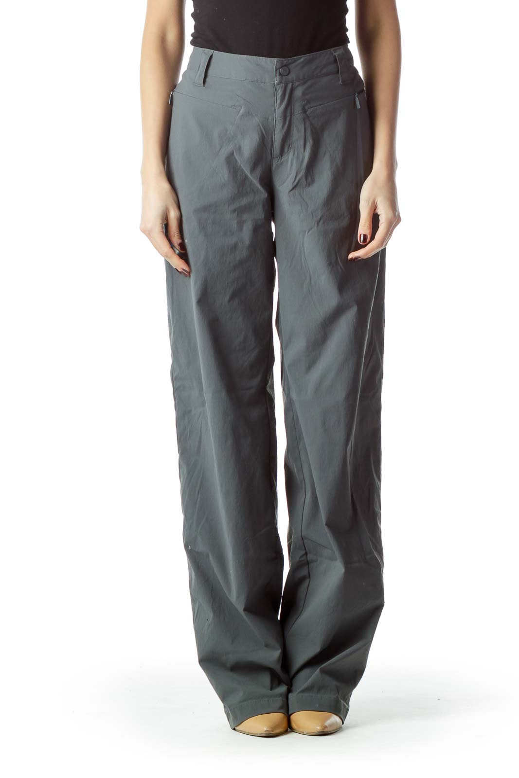 Gray Stretch Straight Leg Outdoor Pants