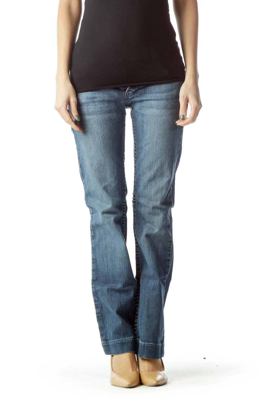 Blue Straight Leg Denim