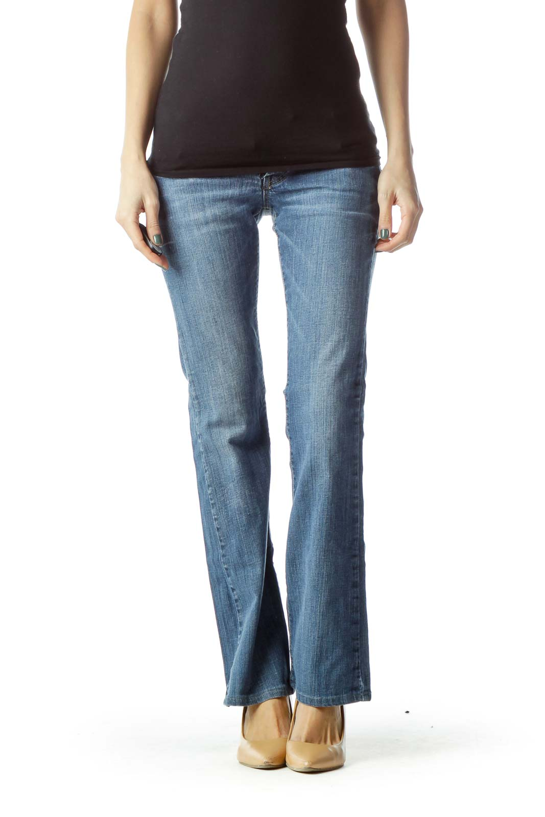 Blue Flared Jean