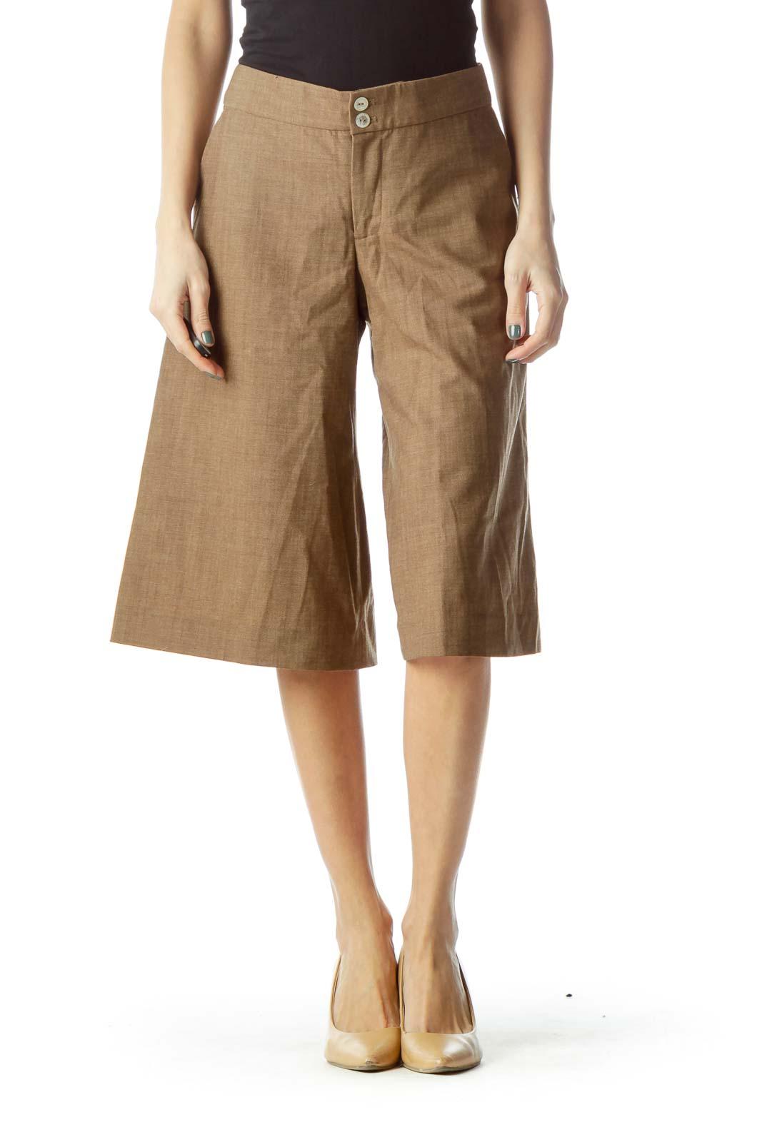 Brown Wool Culottes