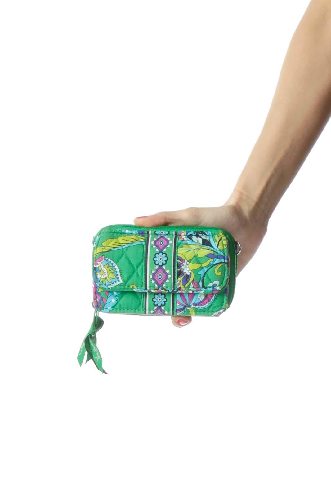 Green Paisley Print Wallet