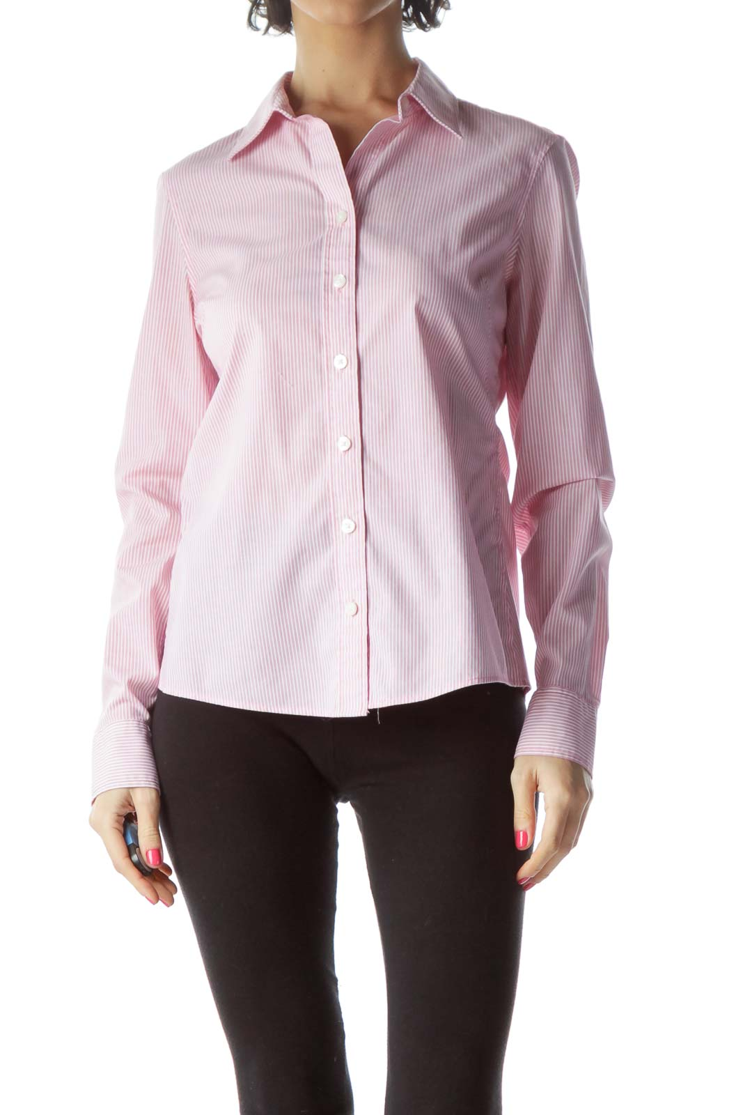 Pink Non-Iron Striped Shirt