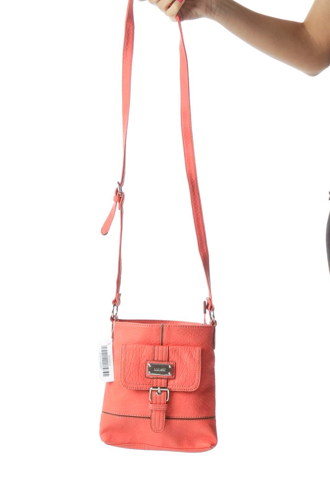 Pink Buckle Detailed Crossbody Bag