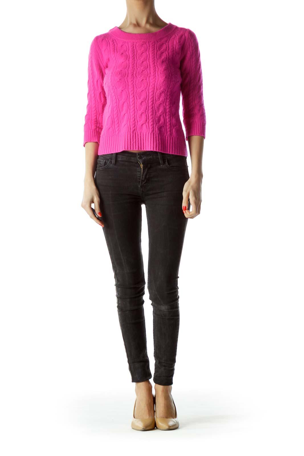 Magenta Pink Italian Cashmere Sweater