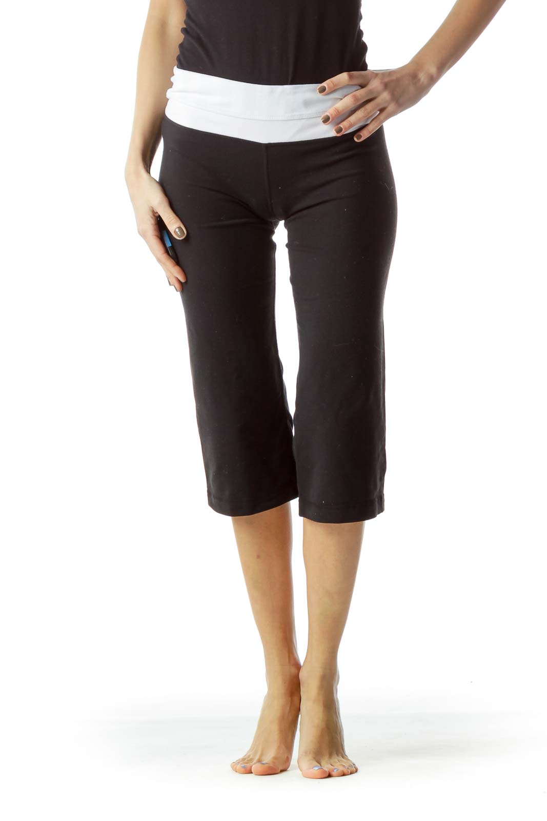 Black Stretchy Capri Yoga pants