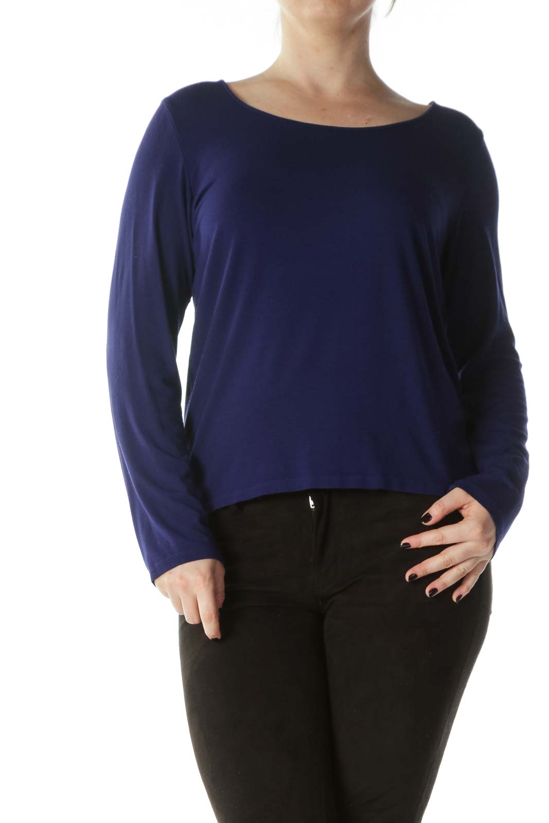 Royal Blue Round Neck Long Sleeve