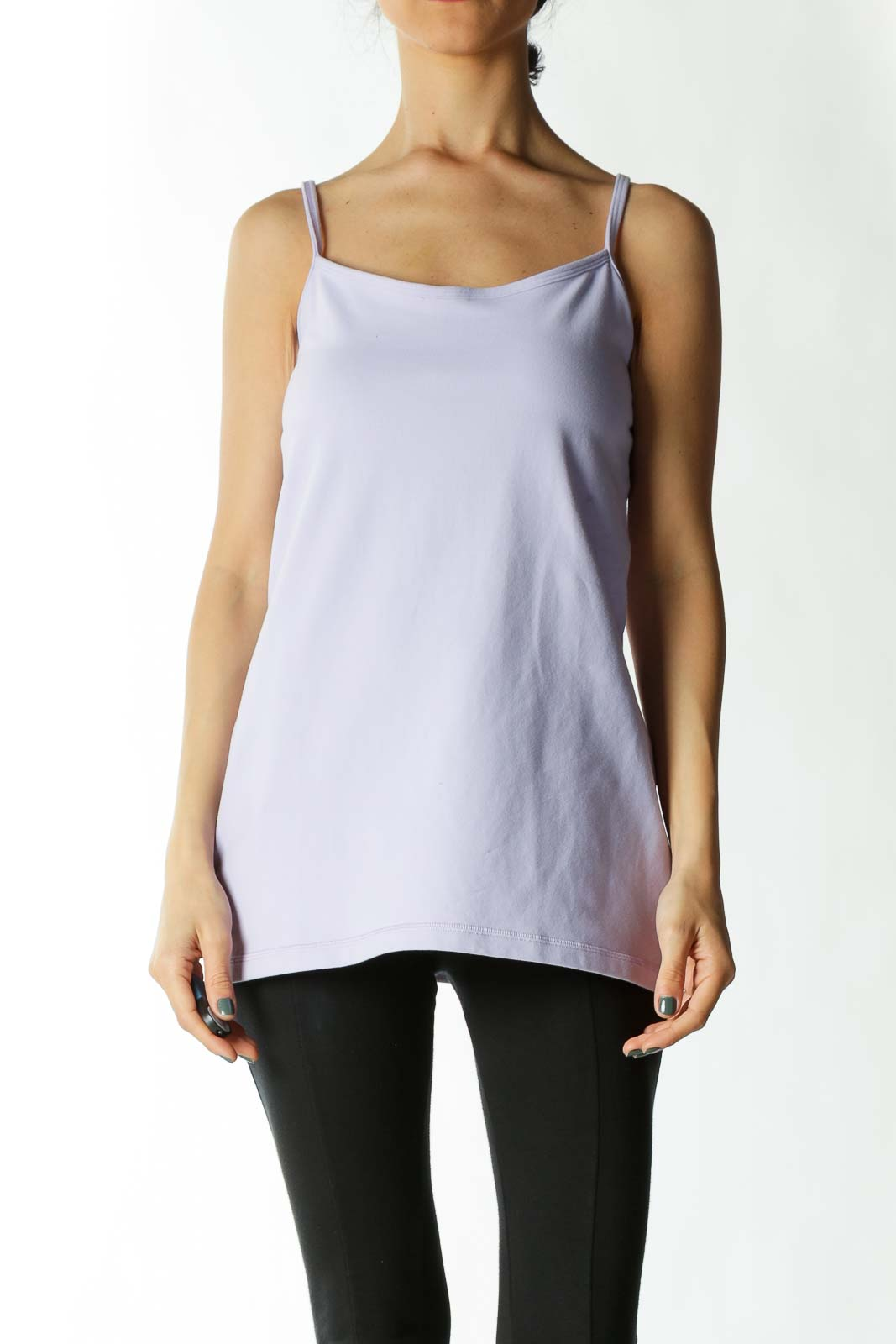 Light Purple Built-In Support Stretch Sports Top