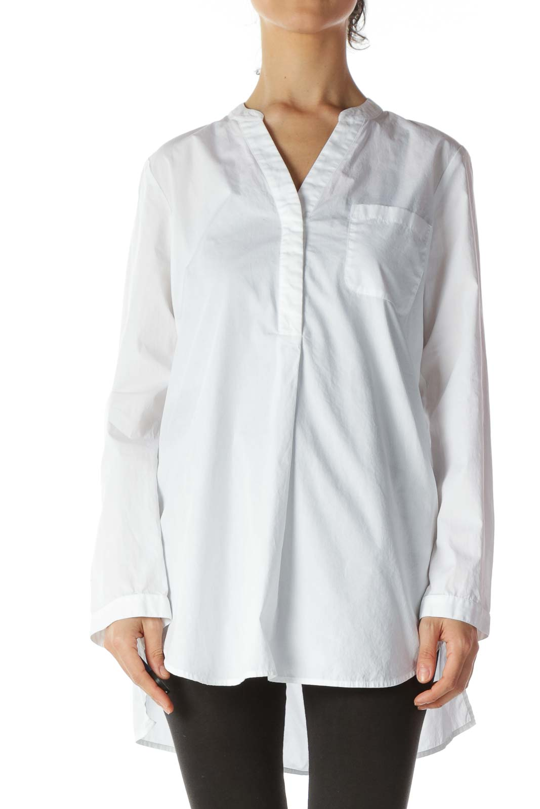 White 100% Cotton Fresh Long Shirt
