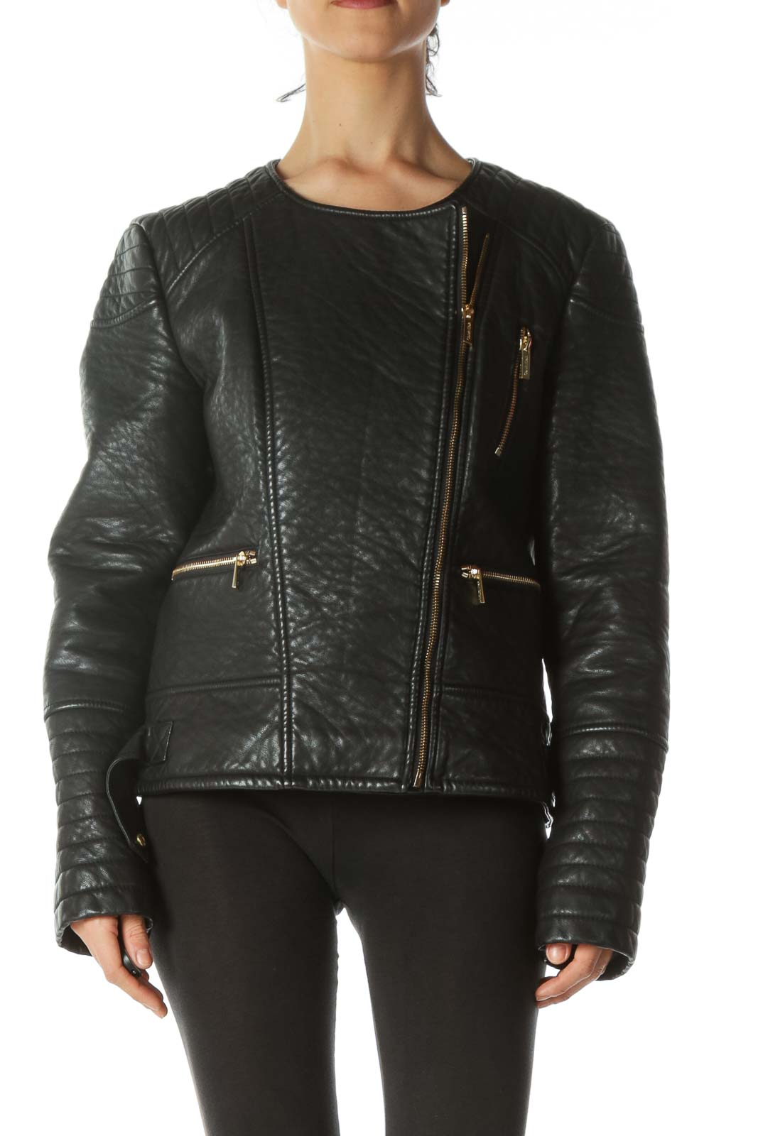 Black Leather Motto-Jacket