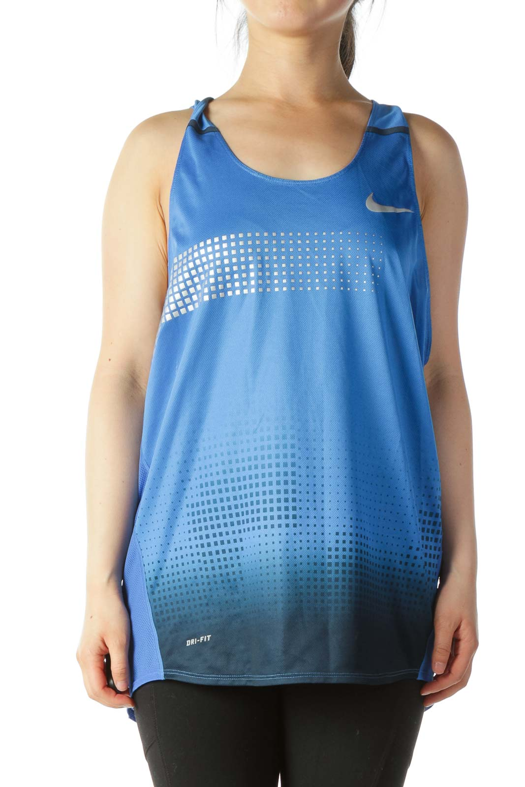Blue Athletic Tank Top