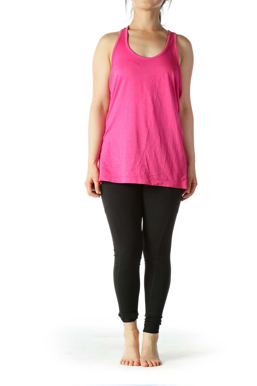 Pink Racerback Sleeveless Stretch Sports Top