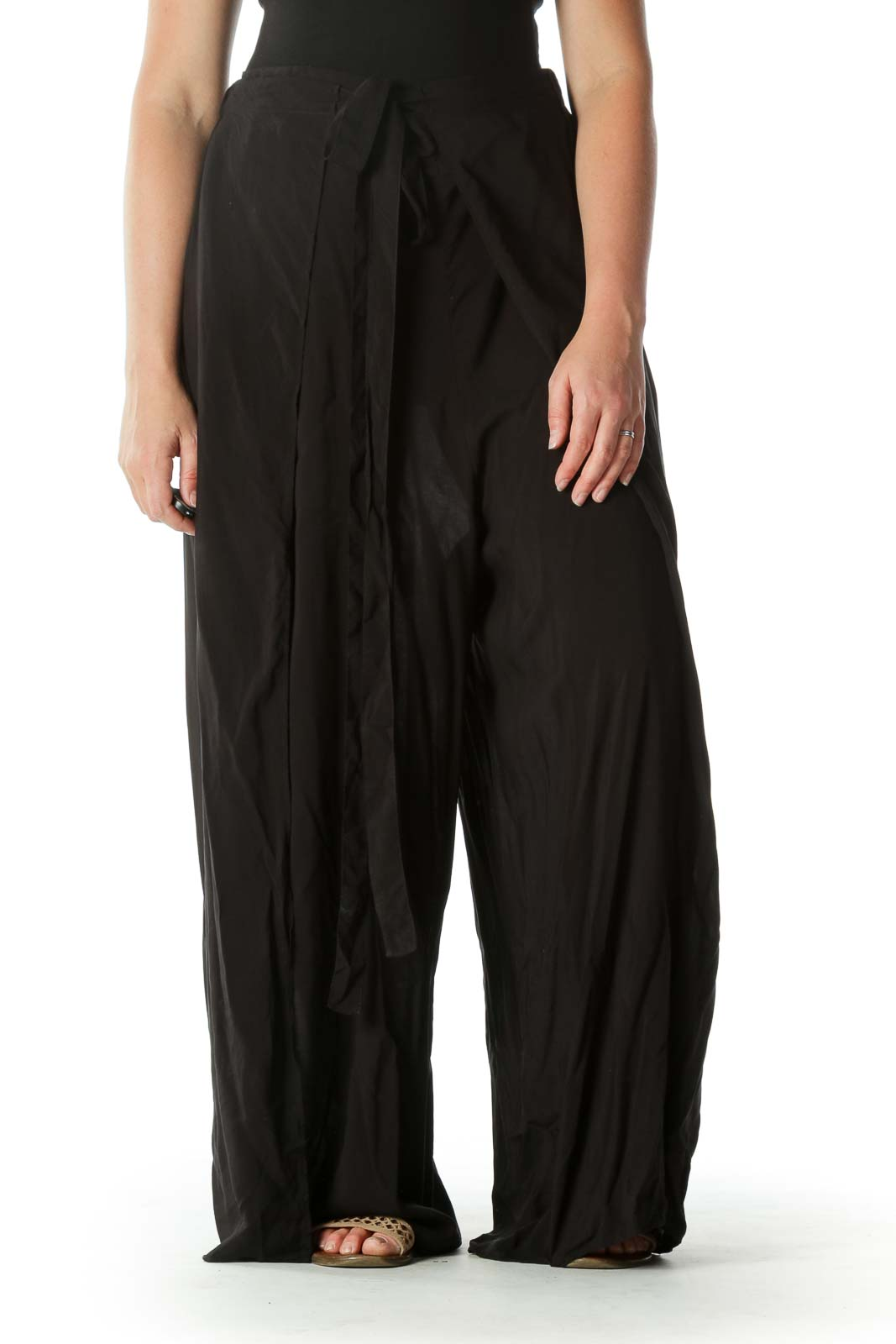 Black Slitted Pant