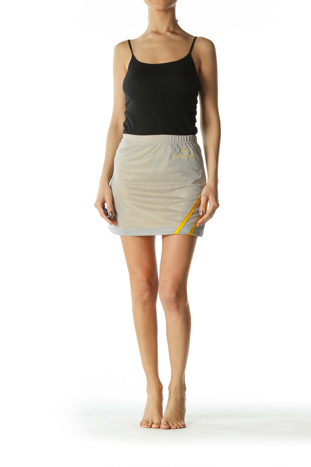 Gray and Yellow Sport Skirt