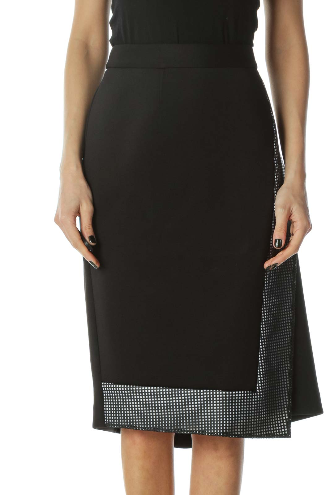 Black Asymemetric Skirt