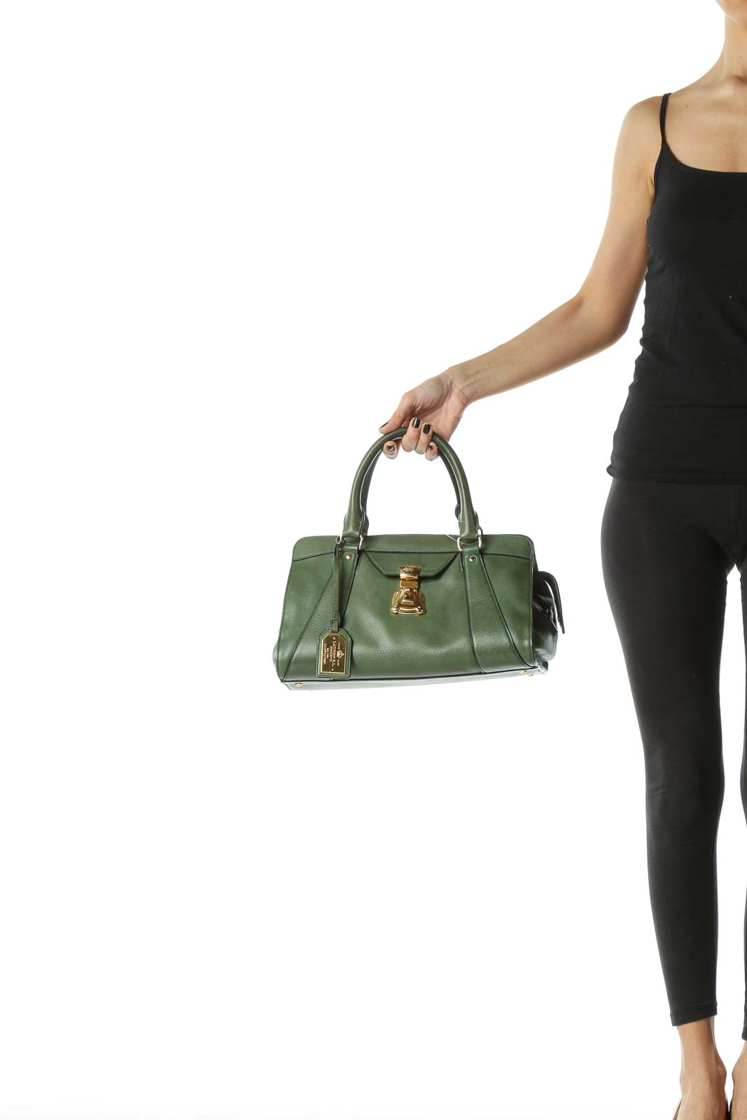 Green New Luxury Leather Tote Bag