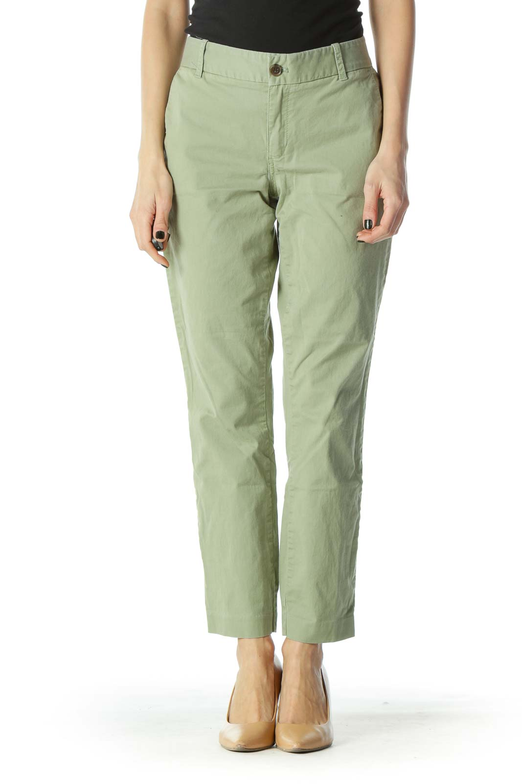 Green Stretch Chino