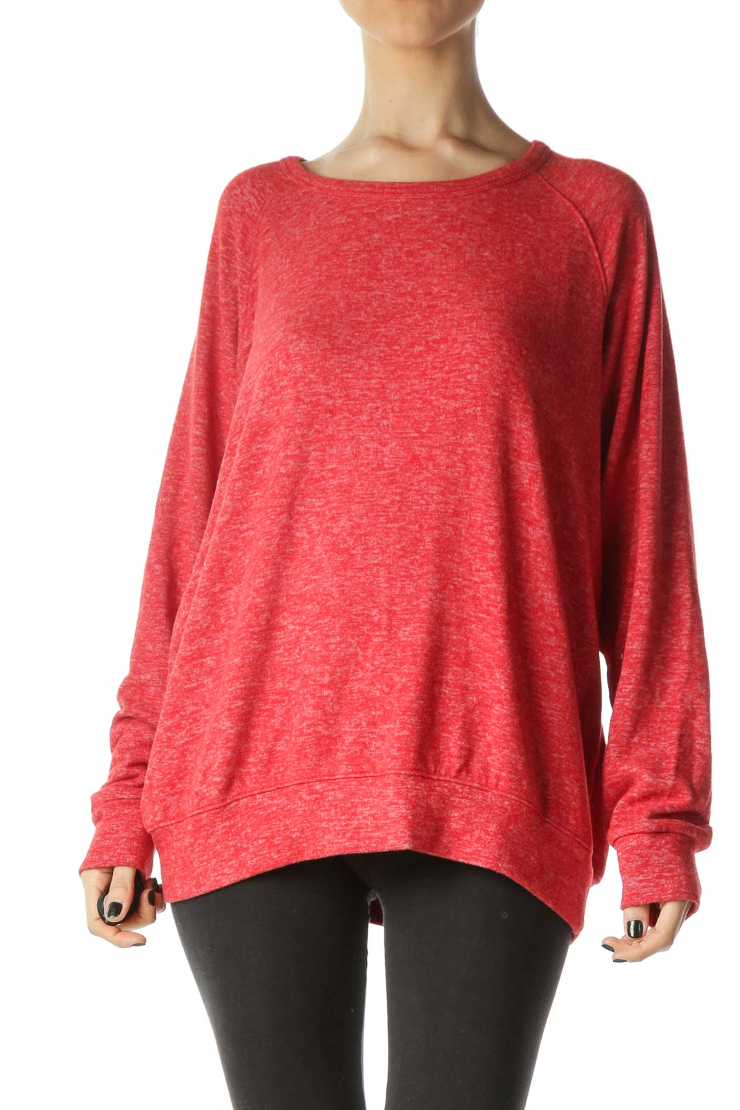 Red Mottled Pullover