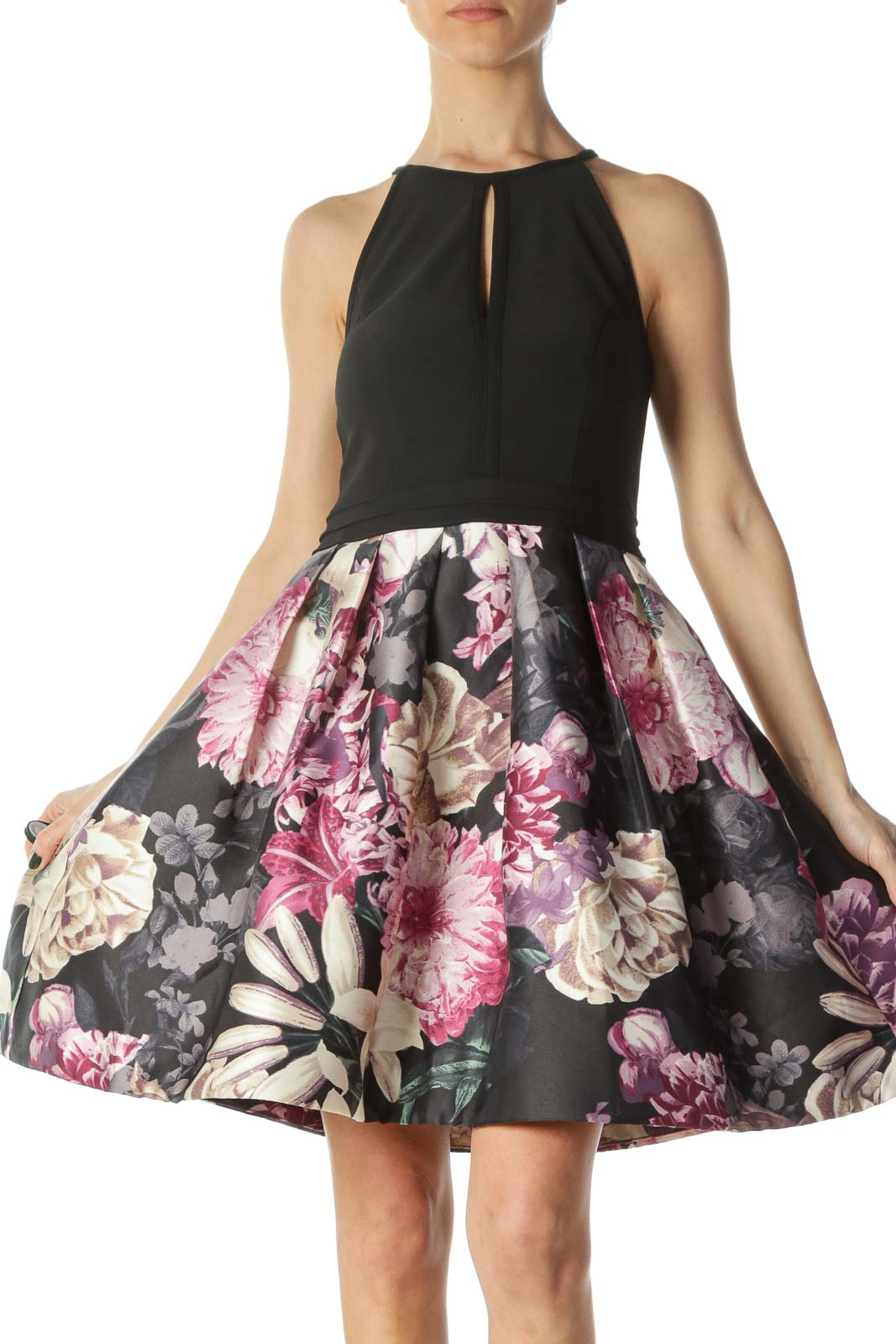 Black Floral Cocktail Dress