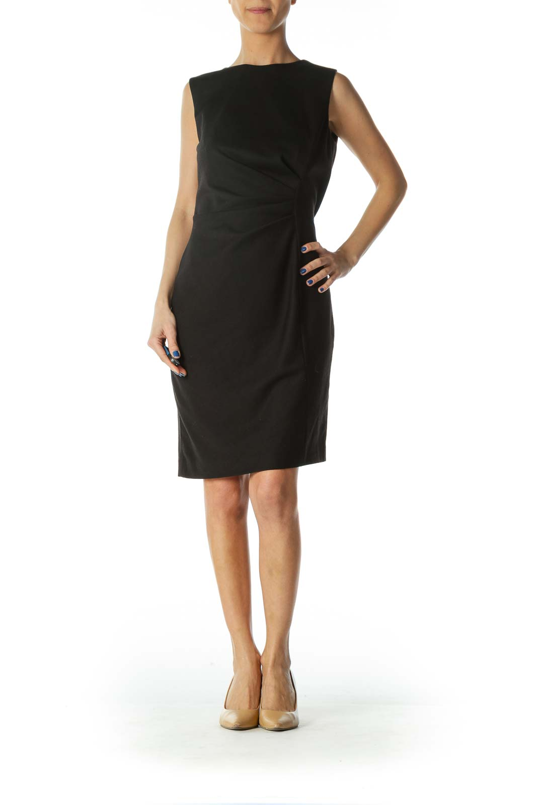 Black Sleeveless Work Dress