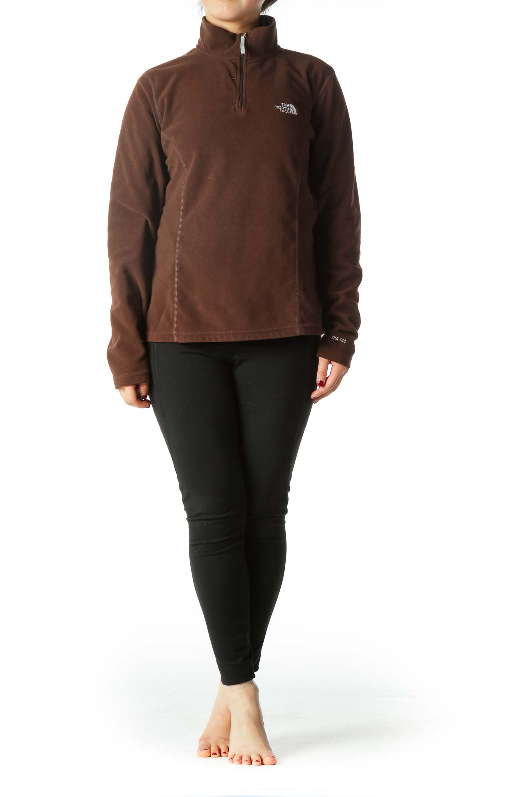 Brown Turtle Neck Sports Pullover