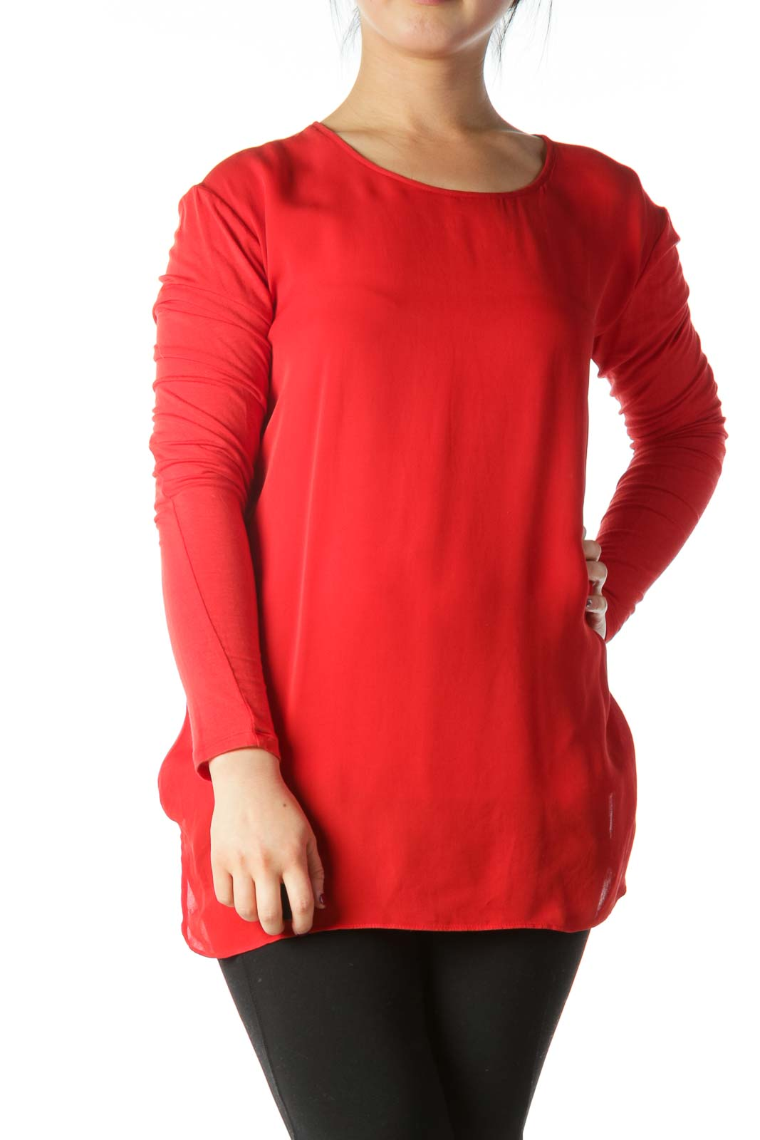 Red Silk Tunic