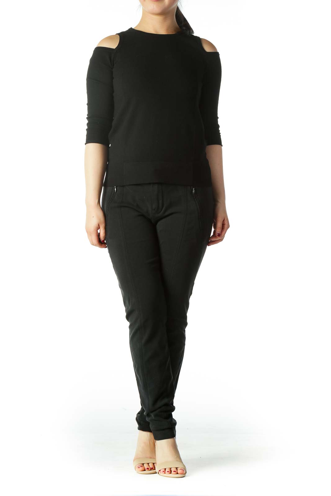 Black Low Rise Skinny Pant
