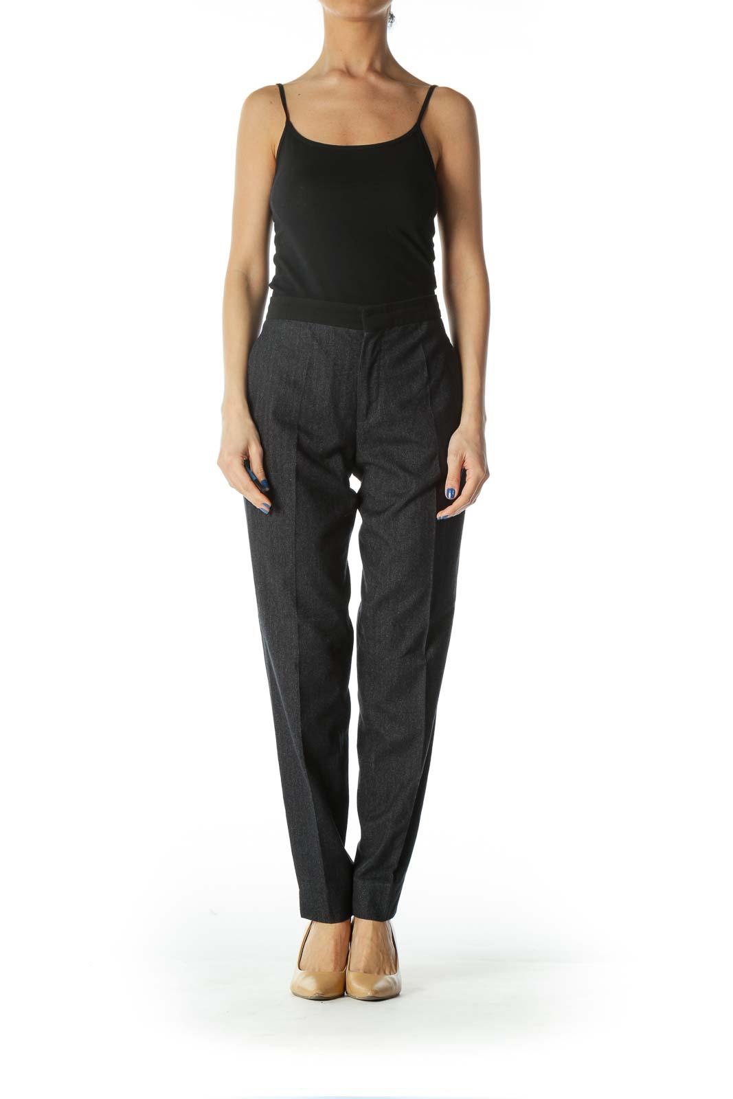 Black Twill Skinny Suit Pant