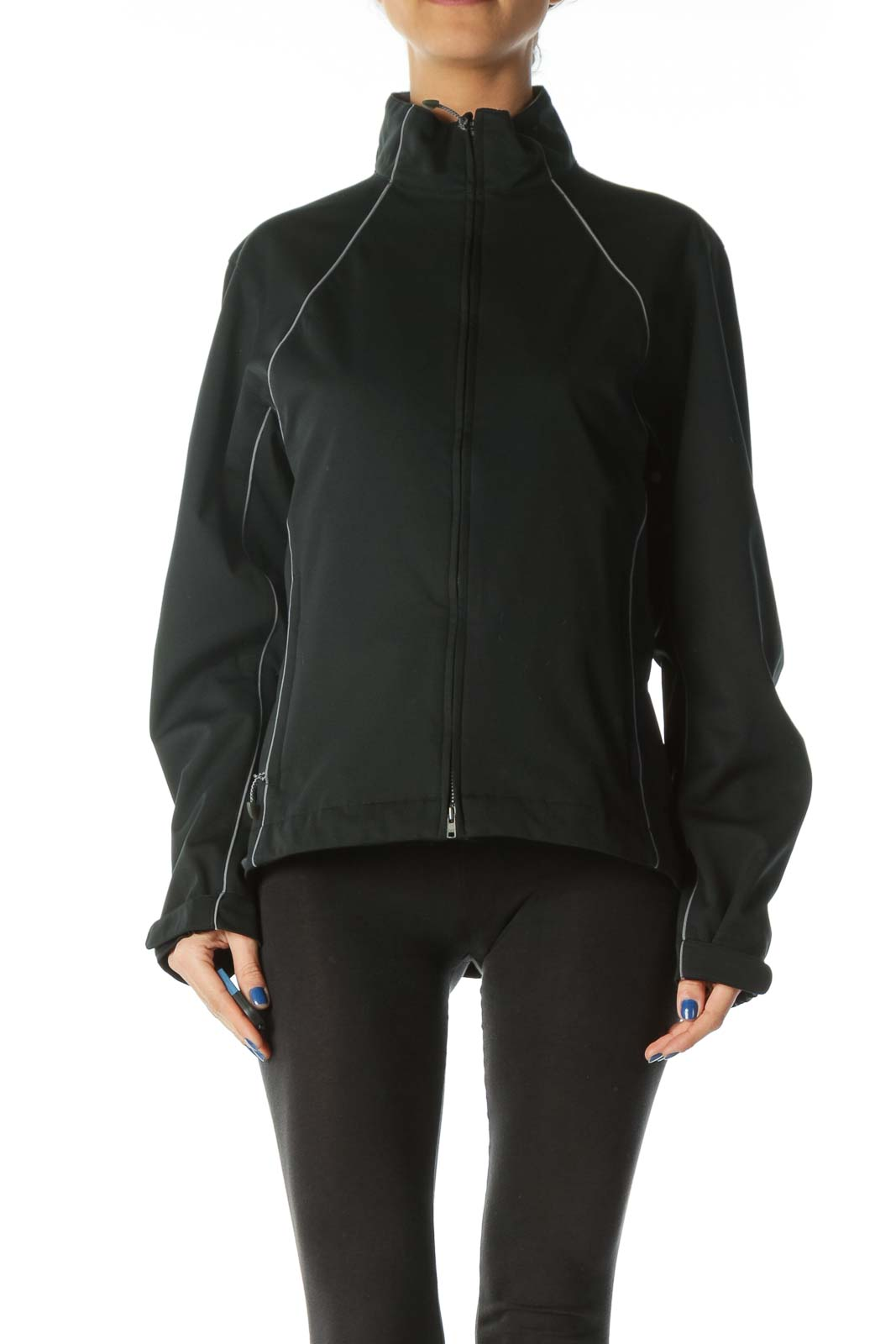 Black and Gray Sports Jacket