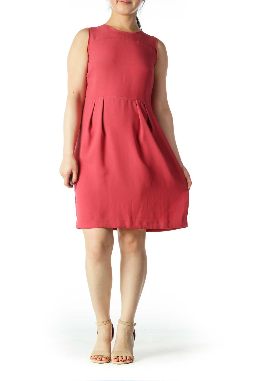 Pink A-Line Sleeveless Dress