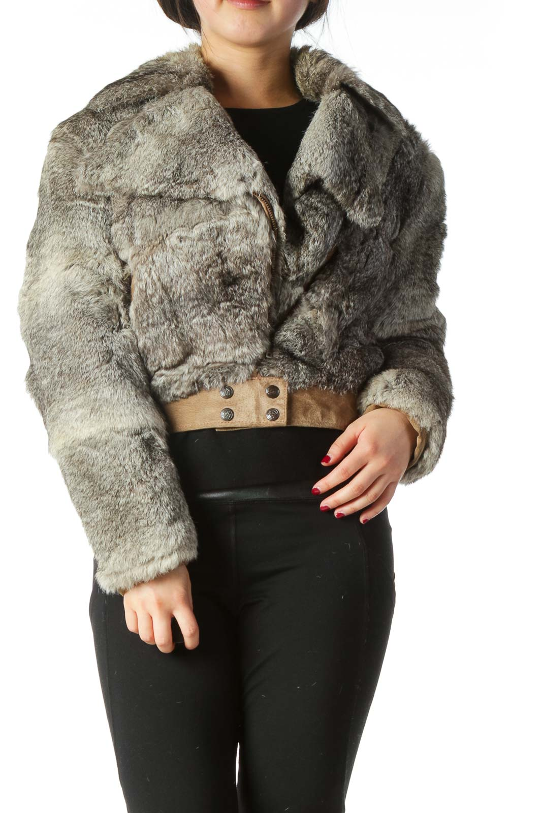 Genuine Rabbit Fur Jacket