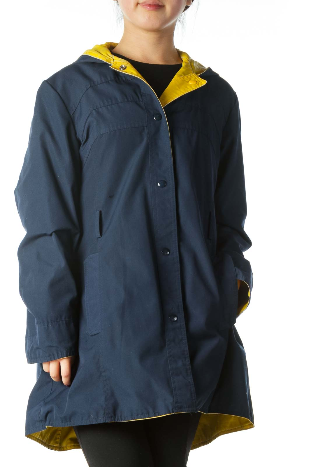 Blue Reversible Raincoat
