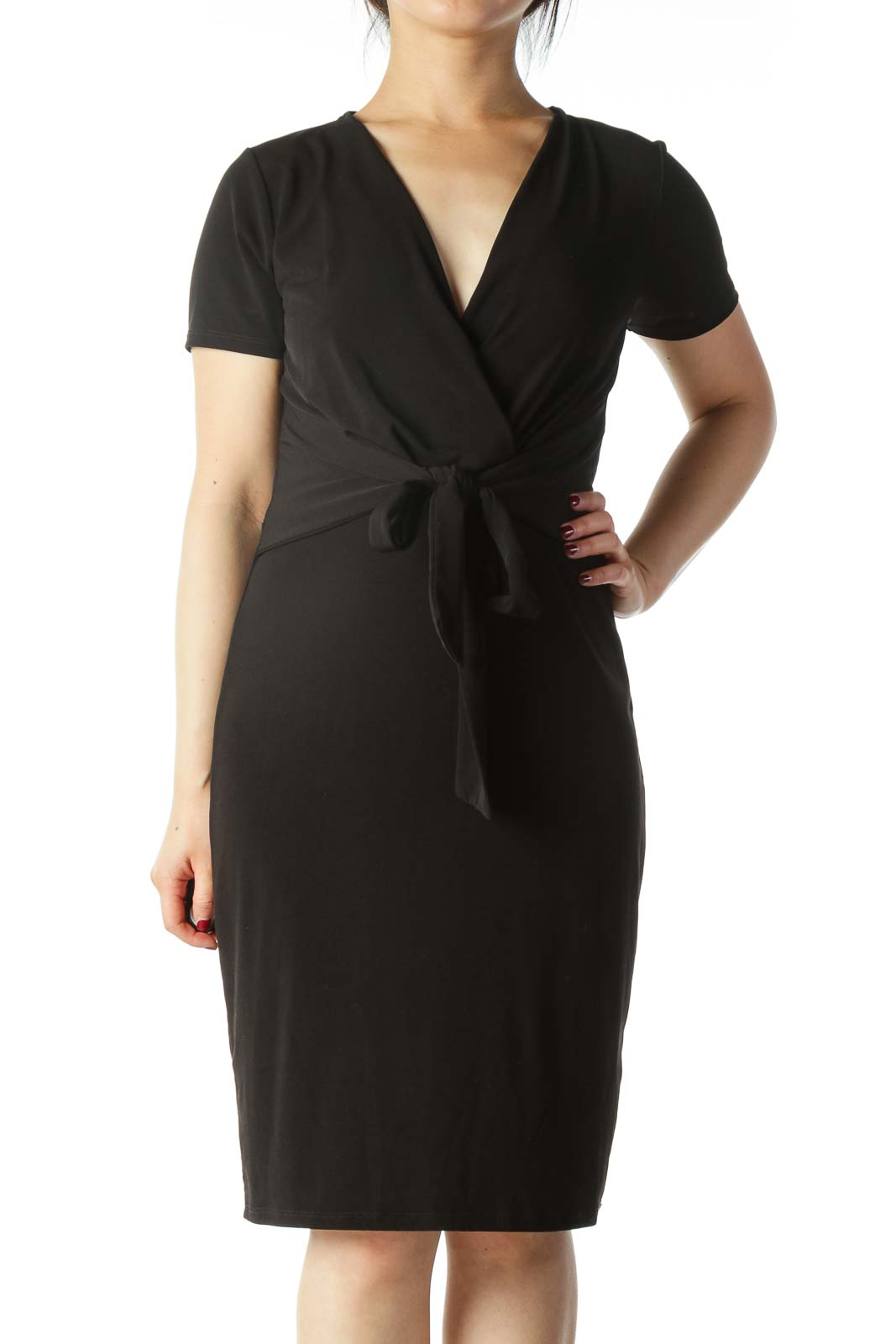 Black Wrap Evening Dress