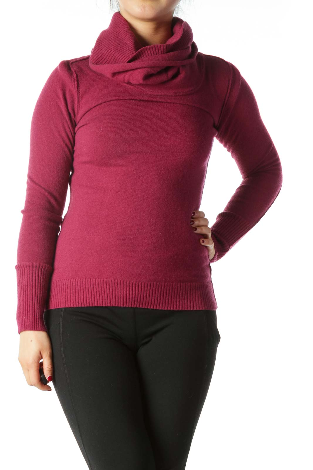 Pink Wool and Cashmere Turtle Neck